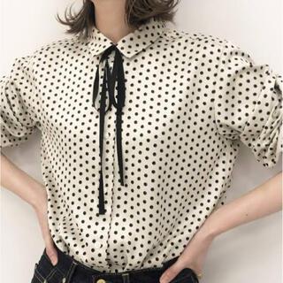 IENA - IENA   sese   リボンタイドットシャツ