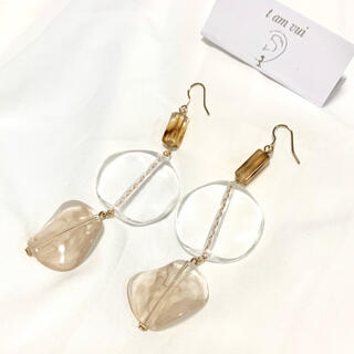 BEAUTY&YOUTH UNITED ARROWS - #7 3clear piace  or  イヤリング
