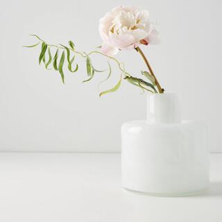 Anthropologie - アンソロポロジー sunset flower base ホワイト 花瓶