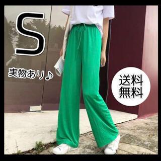 ⭐️新品⭐️【 S 】グリーン フルイドパンツ ハイウエスト 緑 ZARA ザラ