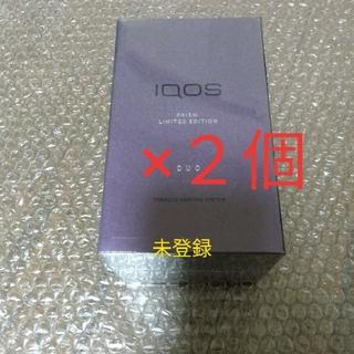 アイコス(IQOS)の2個【未登録品】iqos3 duo 本体 プリズム(タバコグッズ)