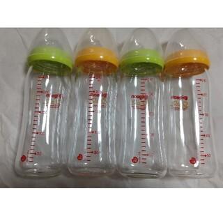 母乳実感 哺乳瓶 240ml4本セット ガラス製(哺乳ビン)