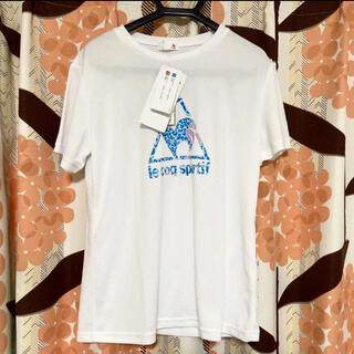 le coq sportif - Tシャツ ルコック レディース  半袖 ロゴ ポリエステル ホワイト 白 夏