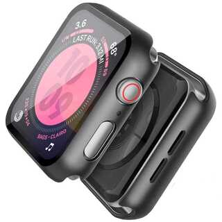 【A61】Apple Watch 画面保護ケース 耐衝撃 40mm(ブラック)(その他)