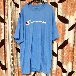 Champion - チャンピオン Tシャツ メンズ 2XL 水色 ブルー トップス チュニック
