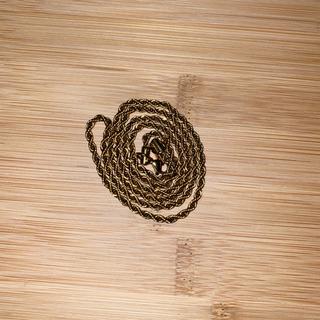 中空ロープ 18金ネックレス