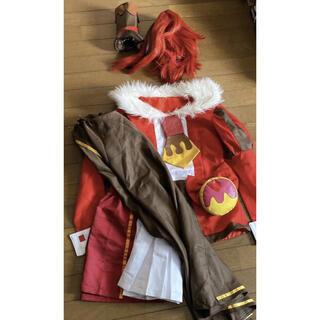 キラキラプリキュア キュアショコラ コスプレ ウィッグ 上下セット 衣装一式 尻(衣装一式)