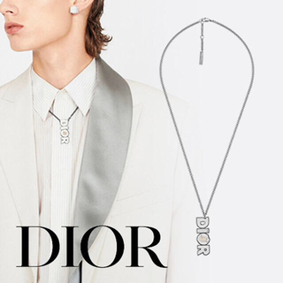 DIOR HOMME - Dior Homme ダニエルアーシャム 20ss ネックレス ホワイト ロゴ
