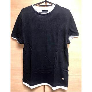 ZARA - 値引不可‼️ZARA MAN 重ね着Tシャツ ブラック M