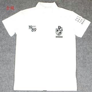 メンズ ゴルフウエア Tシャツ ホワイト 7サイズZE