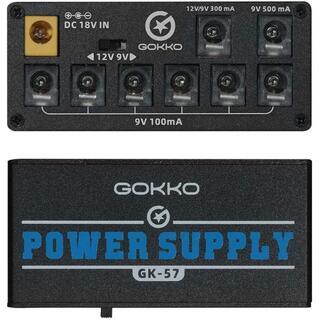 GOKKO AUDIO パワーサプライ エフェクターペダル用 エレキギター用 9(エフェクター)