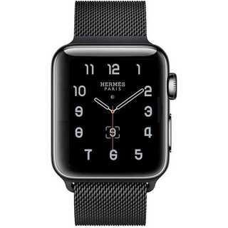 【B32】Apple Watch ミラネーゼループ42mm/44mm(ブラック)(その他)