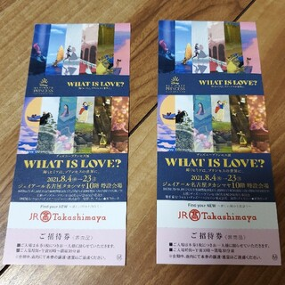 ディズニープリンセス展 WHAT IS LOVE? 入場券(その他)