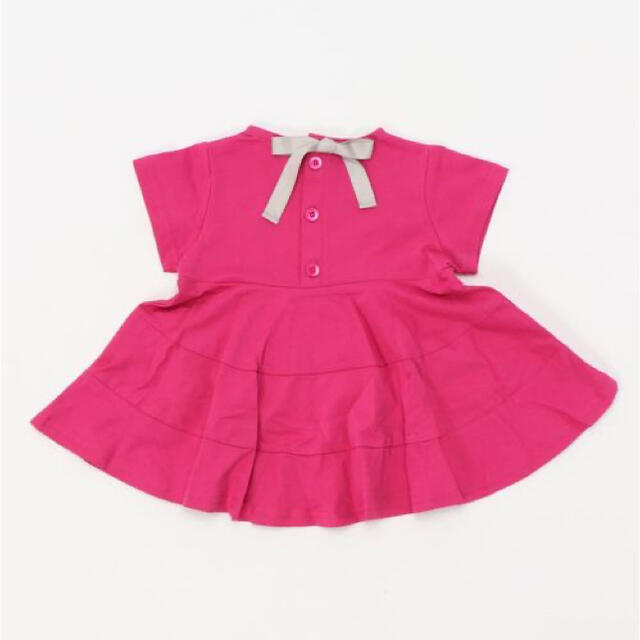 petit main(プティマイン)のpetit main バックリボンAラインフレアチュニック ピンク キッズ/ベビー/マタニティのベビー服(~85cm)(シャツ/カットソー)の商品写真