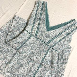FRAY I.D - Lace Trimmed Floral Dress