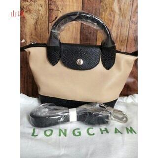 LONGCHAMP - LONGCHAMP キュイール トップハンドルバッグ XS7h