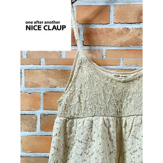 one after another NICE CLAUP - 【清楚】NICE CLAUP ナイスクラップ☆可愛いレースのキャミチュニック