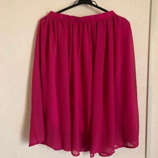 グレイル(GRL)の数回使用★GRL  ピンクスカート(ひざ丈スカート)