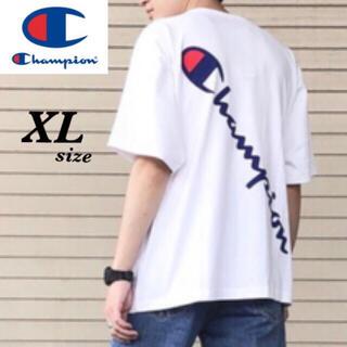 Champion - 【定価4400円】Champion バックプリント Cロゴ刺繍 Tシャツ XL