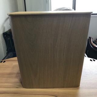 MUJI (無印良品) - 8/2迄 無印良品 木製 ゴミ箱 蓋付き サイドテーブル ウッド