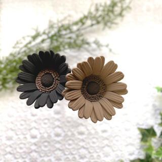 ガーベラ クレイフラワー ブラック ブラウン 2本セット 造花(その他)