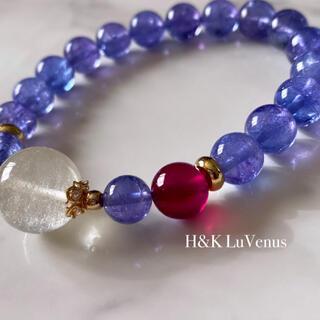💎726A💎宝石質タンザナイト×宝石質ルビー×リビアングラス💎
