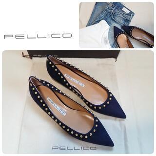 PELLICO - 定価59400円 新品 ペリーコ 定番 新木型 スタッズ パンプス 37