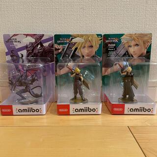 ニンテンドースイッチ(Nintendo Switch)のamiibo 3点セット クラウド リドリー (大乱闘スマッシュブラザーズ)(ゲームキャラクター)