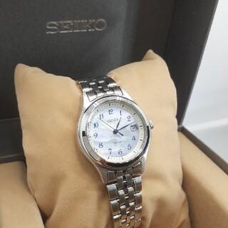 セイコー(SEIKO)の美品 SEIKO セイコー ソーラー レディース腕時計(腕時計)