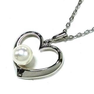ミキモト(MIKIMOTO)のミキモト ネックレス美品  - 白 ハート(ネックレス)
