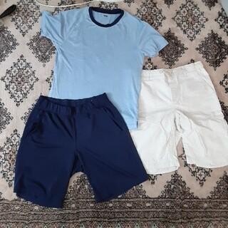 ユニクロ(UNIQLO)の夏服3着セット(150)ユニクロ、ランズエンド(パンツ/スパッツ)