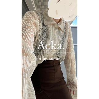 スナイデル(snidel)のAcka シアーシャツ(シャツ/ブラウス(長袖/七分))