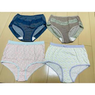 しまむら - 下着 ショーツ  パンツ サイズM 4点セット 新品未使用品まとめて 綿コットン