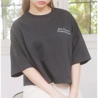 イング(INGNI)のINGNI   刺繍ロゴTショート丈Tシャツ  新品タグ付き(Tシャツ(半袖/袖なし))