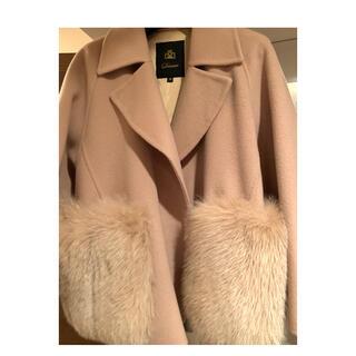 ドゥロワー(Drawer)のドゥロワー ファーポケット付きコート(毛皮/ファーコート)