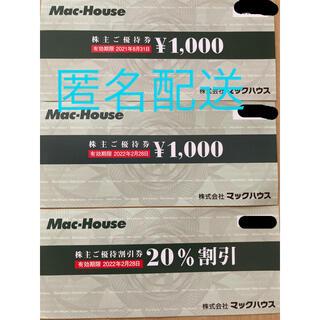 マックハウス 株主優待券
