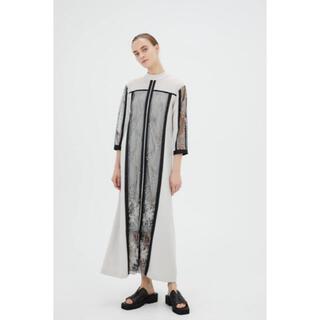 mame - MURRAL ミューラル Framed flower dress