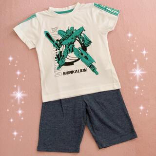 ☆シンカリオン柄半袖Tシャツ&ハーフパンツセット☆120サイズ(パジャマ)