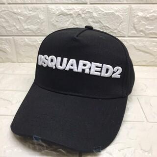 ディースクエアード(DSQUARED2)の新品未使用 DSQUARED2 ベースボールキャップ  黒 ブラック 即日発送(キャップ)