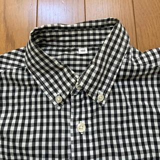 ムジルシリョウヒン(MUJI (無印良品))の無印良品 150cm 定番チェックシャツ 黒(Tシャツ/カットソー)
