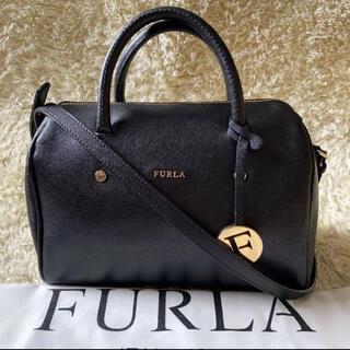 Furla - フルラ 2way アリッサ ミニボストン チャーム サフィアーノレザー ブラック