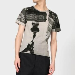 ヴィヴィアンウエストウッド(Vivienne Westwood)のピカデリー柄Tシャツ(ブラウン系)(Tシャツ/カットソー(半袖/袖なし))