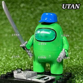 アモングアス 【Among Us】 ミニフィグ 武器&台座付き LEGOレゴ互換(ゲームキャラクター)