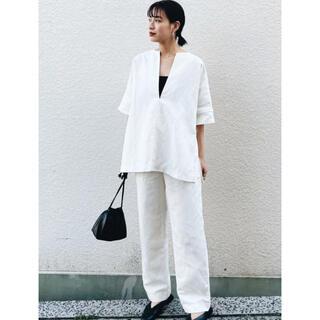 TODAYFUL - EJIN イージーセミワイドパンツ リネン パンツ ホワイト