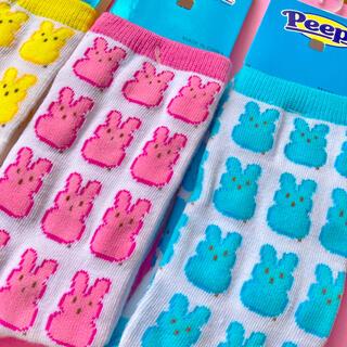 ペコクラブ(PECO CLUB)の新品 peeps bunny socks ピープス バニー ソックス 靴下 青(ソックス)