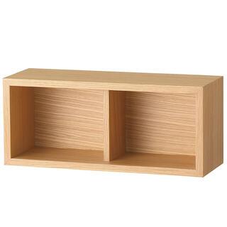 ムジルシリョウヒン(MUJI (無印良品))の【新品】無印 壁に付けられる家具 オーク材(棚/ラック/タンス)