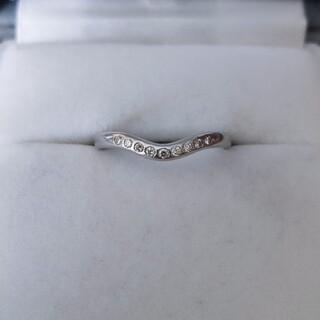 Tiffany & Co. - ティファニー 9p ダイヤモンド カーブド バンドリング Pt950 3.4g
