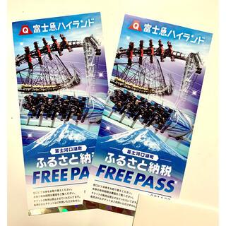 富士急ハイランドフリーパス ペア チケット (2枚セット) 2022年1月31日