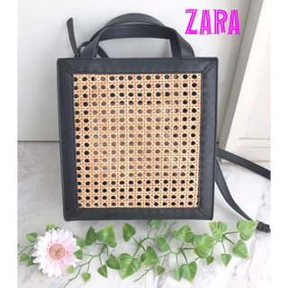 ZARA - 【完売品】ZARA*ザラ*かごバッグ スクエア バッグ ザラ バンブー