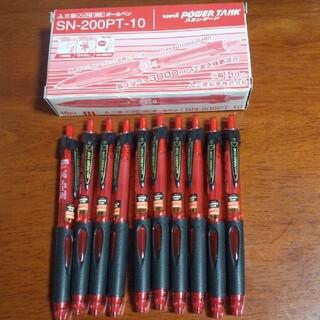 三菱 - 三菱 ボールペン  uniパワータンク赤 10本セット